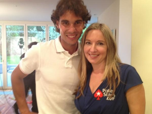 Team Pro Vicky Coren with Team SportsStars member Rafael Nadal