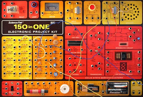 150 in ONE: Electronic Project Kit | Flickr - Photo Sharing!  My Brother had one - awesome fun!