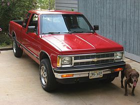 "1982 Chevy S10. Looks like ""Ol' Red"" that my grandfather uses. Still runs great whether you're driving into town or going hunting."