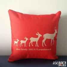 NEW Vintage Cotton Linen Cushion Cover Home Decor Decorative pillow deer4