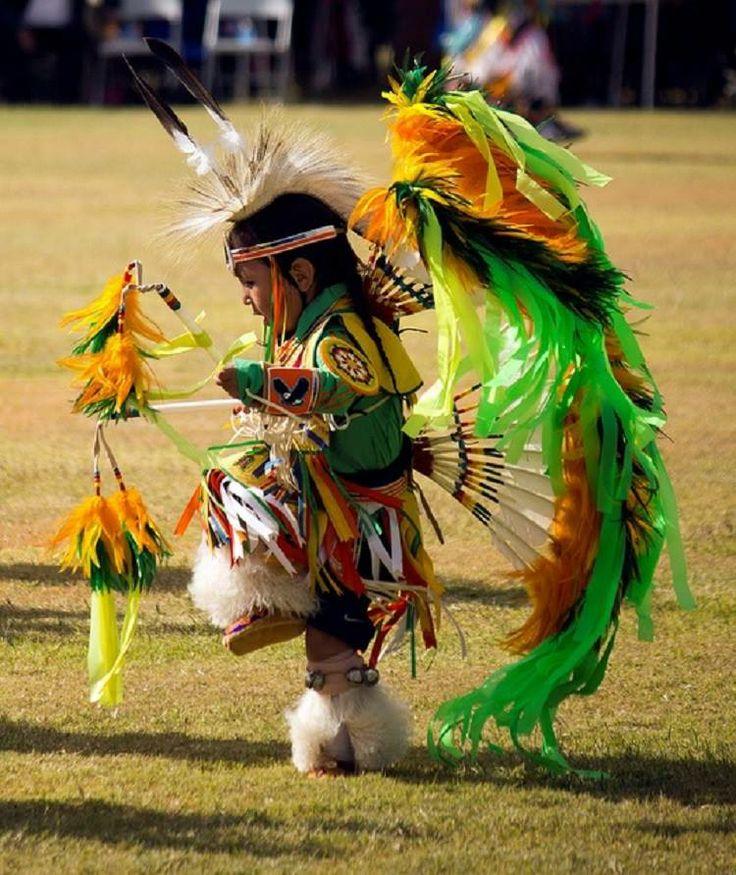 Native American child pow wow