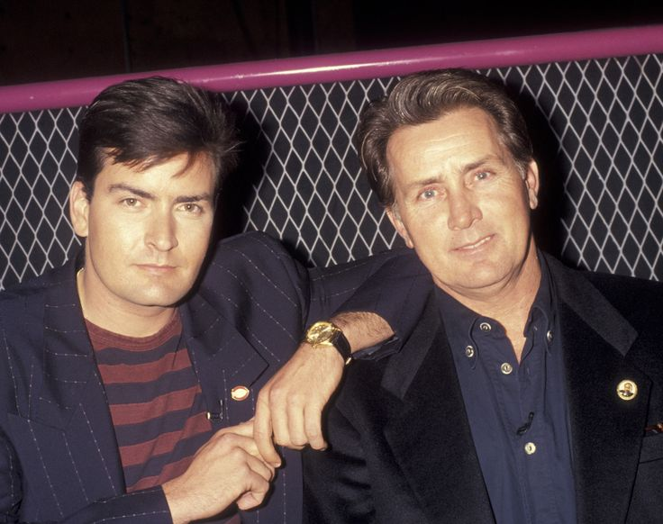 Martin & Charlie Sheen (Then)Father: actor