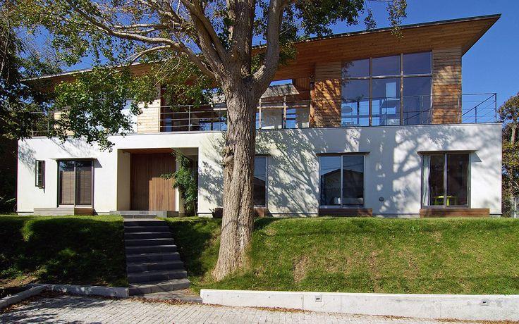 주변 경치를 담아 풍경이 있는 하우스_아시아스타일 주택