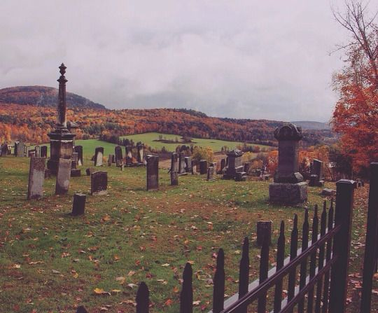 Somewhere in Vermont. (I wish I knew where this cemetery was, otherwise I'd go to it)
