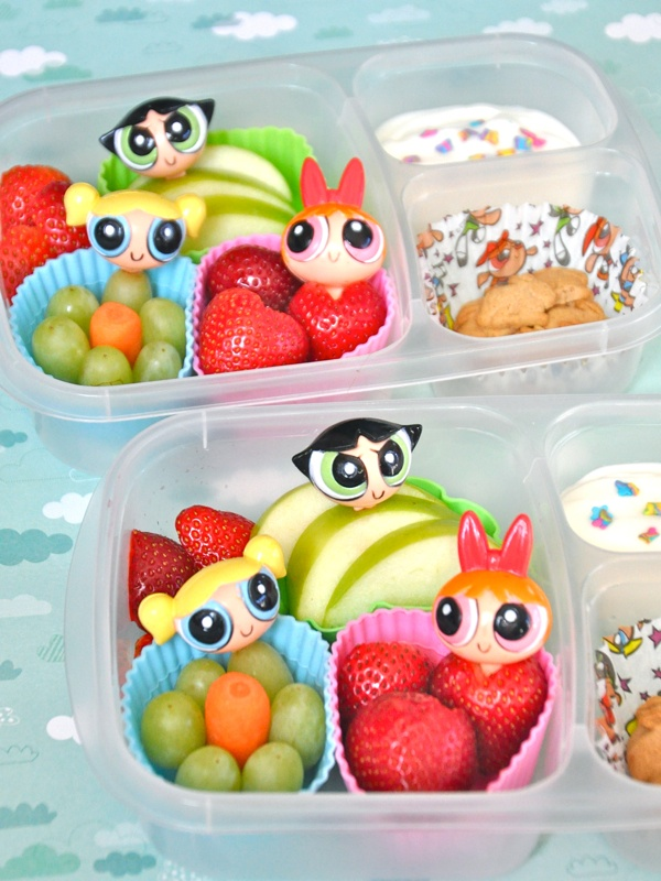 Sugar & spice & everything nice...   That's what these Powerpuff Girls #bento lunches are made of!