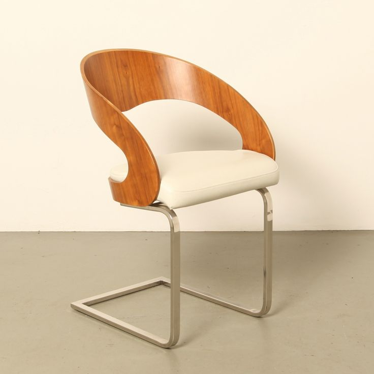 Bent Teak Plywood dining room chairs, 1980s