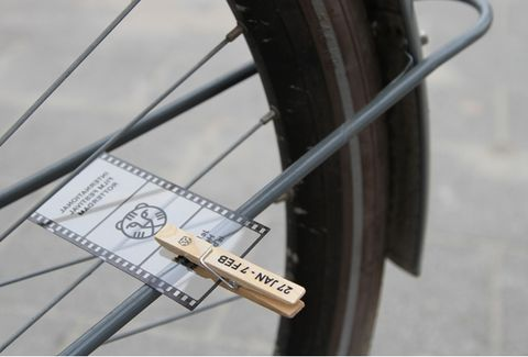 Klapper fiets - cards clothes pinned on our bicycle spokes,..,.Dutch 'n American children alike did it! do kids still do it, I wonder?