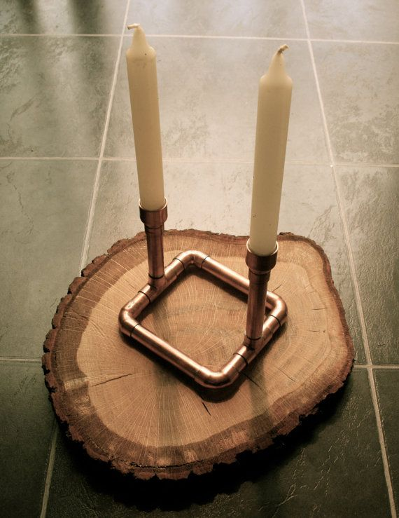 The STARTER Copper Pipe Candelabra Candle Table by LittleCopperPot