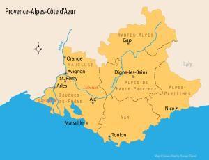 provence map - James Martin