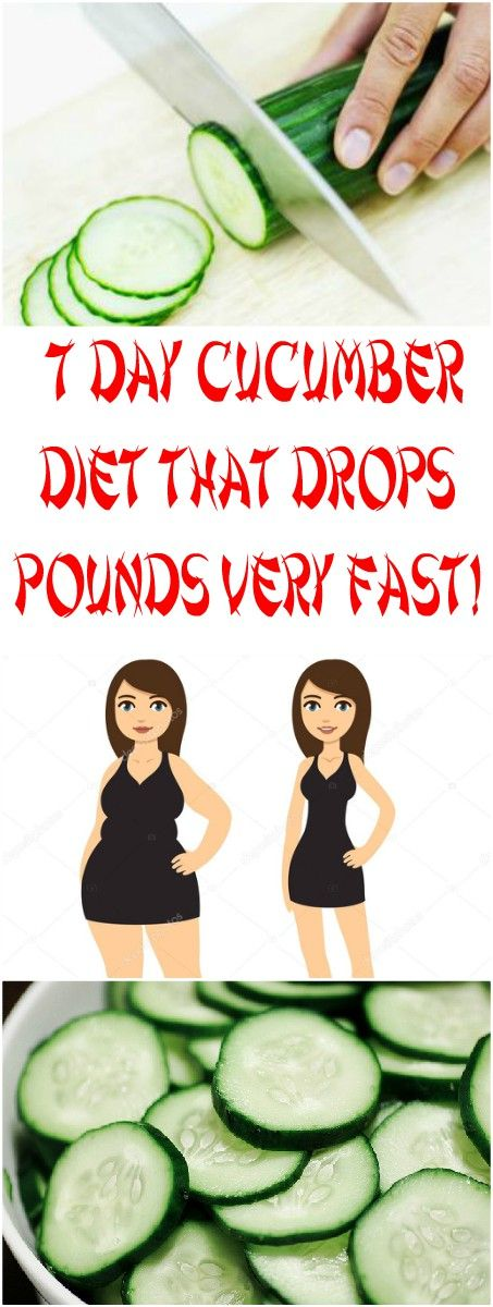 7 DAY CUCUMBER DIET THAT DROPS POUNDS VERY FAST!