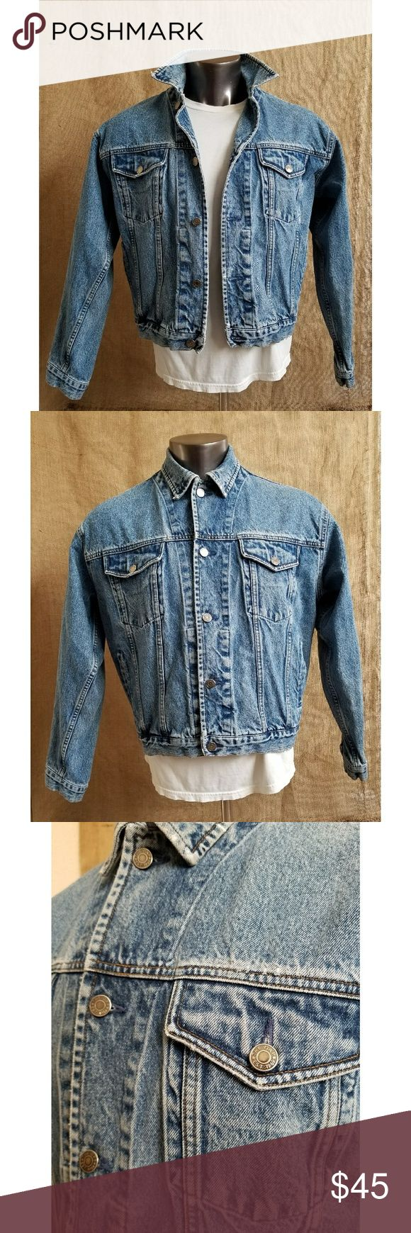 "Vintage 90's GAP Denim Jean Jacket Classic GAP Jean Jacket  Light faded denim blue Men's size medium  Measurements: Armpit to armpit: 24.5"" Length: 25"" Sleeve: 23"" Great condition  Clean and well maintained GAP Jackets & Coats"