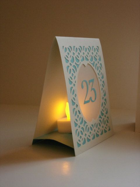 Wedding Table Numbers Wedding Table Markers by MasonRabbitsPaperie, $3.50