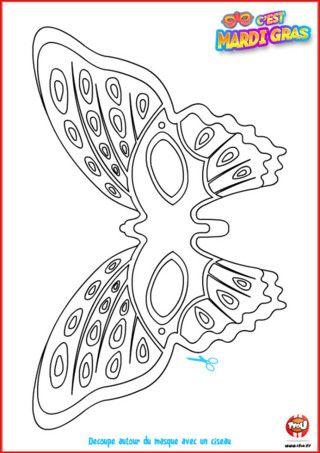 Cette année, tu te veux te déguiser en papillon? Alors ce masque offert par TFou est fait pour toi ! Imprime-le vite, colorie-le comme tu le souhaites et porte-le pour le Carnaval.