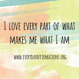 Wonderful Selflove affirmations to tell yourself on a daily basis