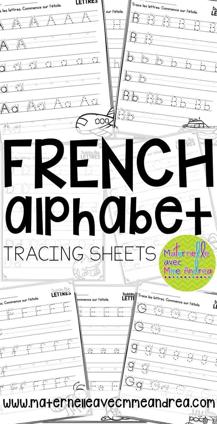 FRENCH alphabet tracing sheets | tracer les lettres | correct letter formation | French kindergarten | maternelle