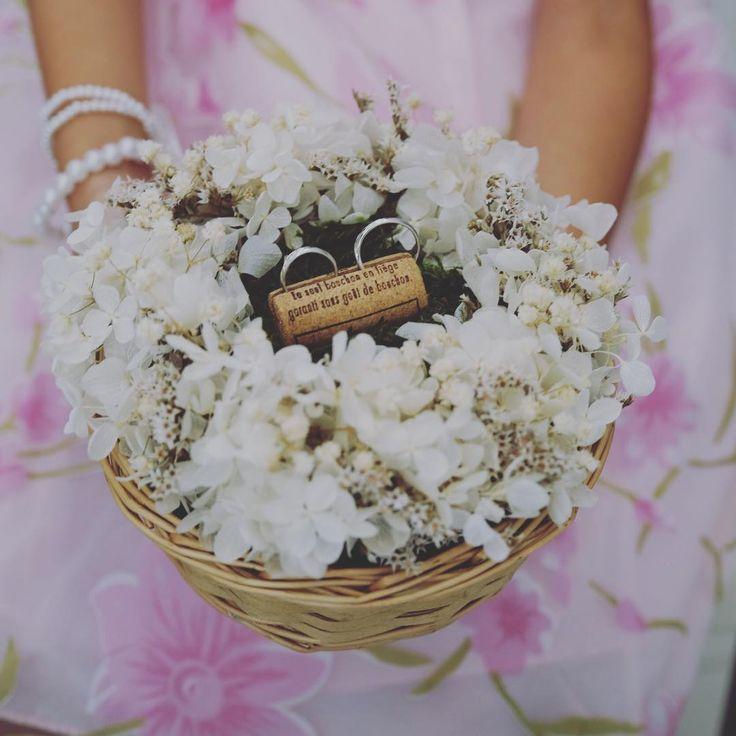 wedding report no.18 リングピロー =================================== かごにプリザーブドのリースをつけてコルクにリングを挟みました♡!! . 教え子にリングガールを頼んでいたのでもしも落としても大丈夫のようにしっかりとめています!! . ナチュラルウェディングだったのでイメージにピッタリ♡!! . 大満足(´・ᵕ・`)✧‧˚ . #ウェディング #ブライダル #結婚式 #リングピロー #リングガール #marry #marry花嫁 #farnyレポ #プリザーブドフラワー #コルク #1009tmwd