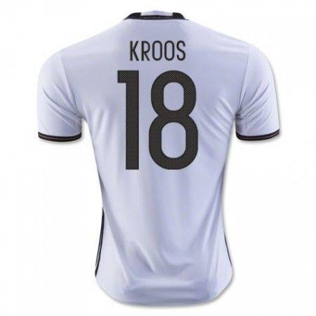Tyskland 2016 Kroos 18 Hjemmedrakt Kortermet.  http://www.fotballpanett.com/tyskland-2016-kroos-18-hjemmedrakt-kortermet-1.  #fotballdrakter