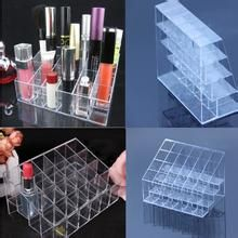 New Arrival Hot sale Clear 24 Makeup Lipstick Cosmetic Storage Display Stand Holder  free shipping