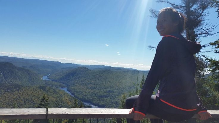 Les Loups trail in Jacques Cartier National park, Qc