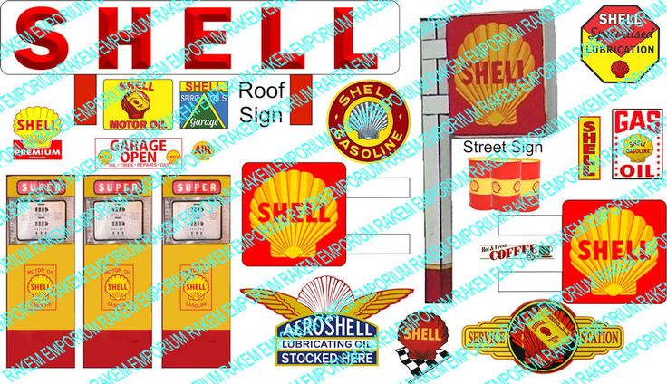 HO Scale Shell Servo Sign Kit - Model Railway Signs - HOSH1