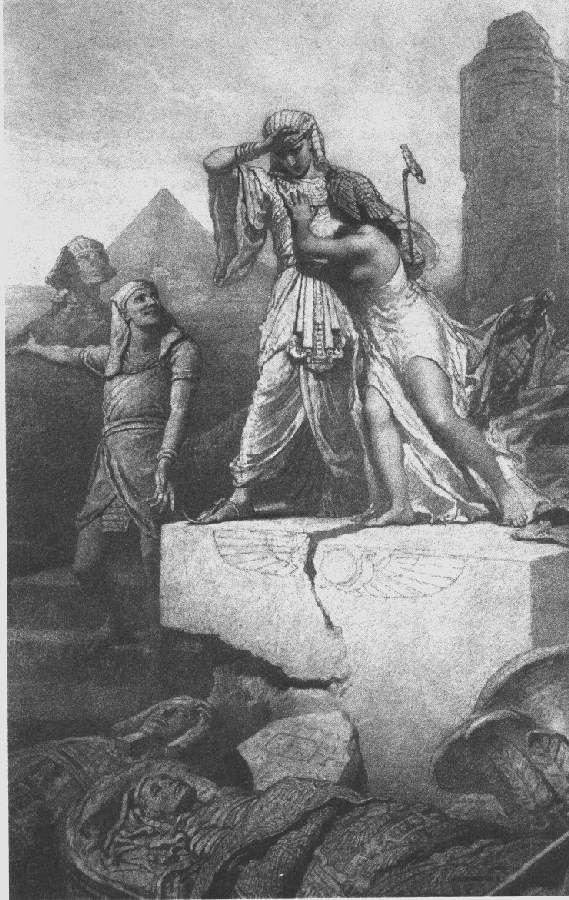 Illusztráció Madách Imre Az ember tragédiája című művéhez: Egyiptomban (4. szín)  1887