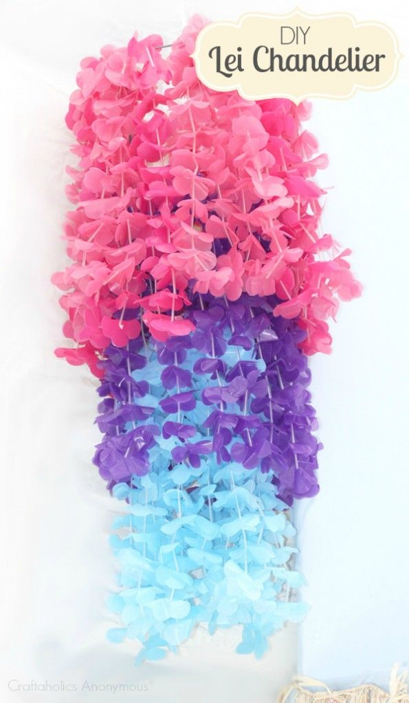 Craftaholics Anonymous® | Lei Chandelier Party Craft