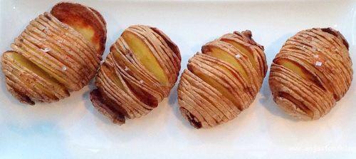 Hasselback aardappelen uit de Airfryer. 35 minuten AK