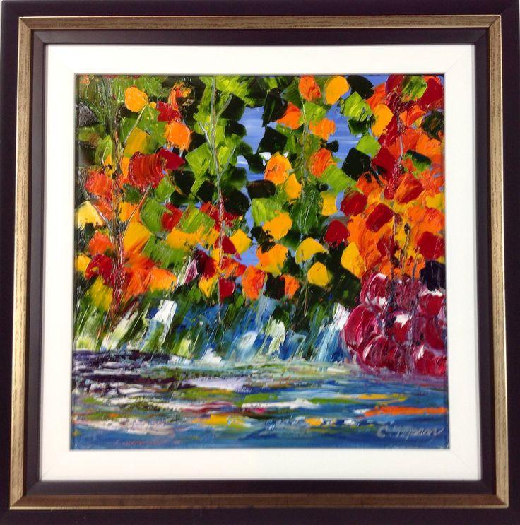 Christine Mason 'Brillaint Falls II' is an oil painting