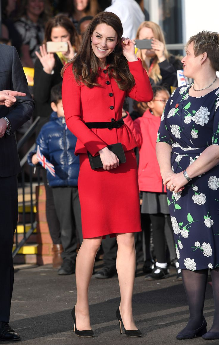 February 6, 2017  In Luisa Spagnoli while visiting Mitchell Brook Primary School in London.