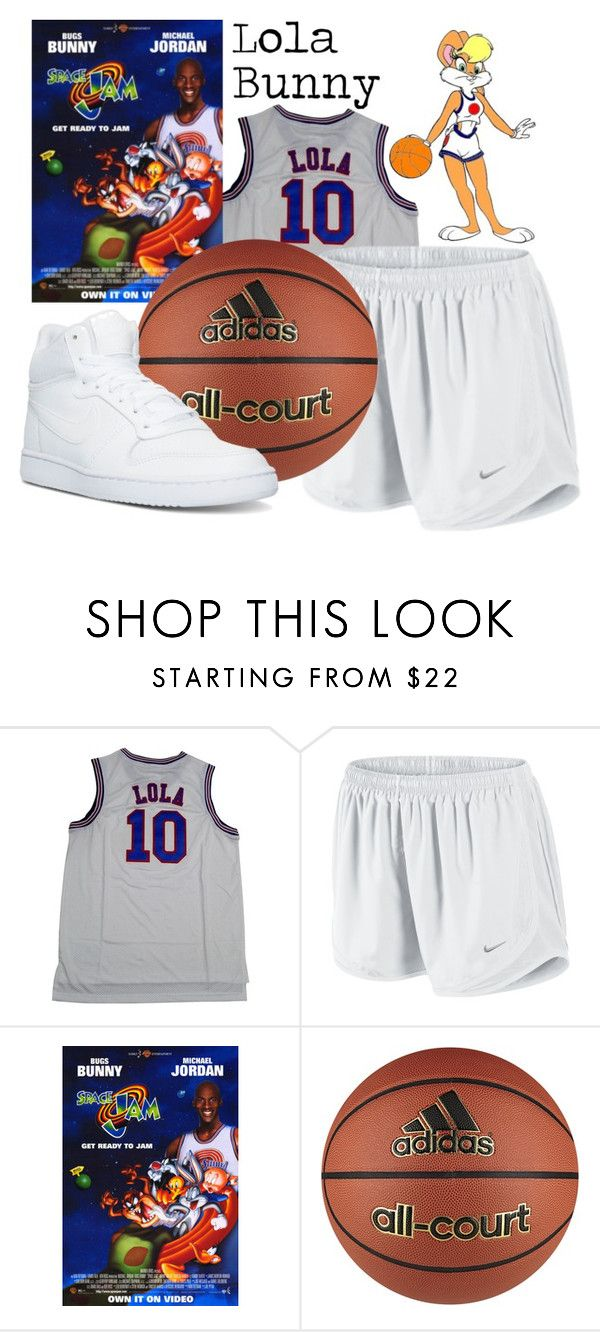 """Lola Bunny (Space Jam) Halloween Costume"" by mejfun on Polyvore featuring NIKE and adidas"