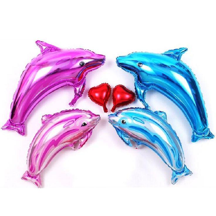 Dolphin Aluminum Foil Balloon 3 pcs / lot Wedding Birthday Party Wedding Decorate Decoration Supplies Aluminium Balloons