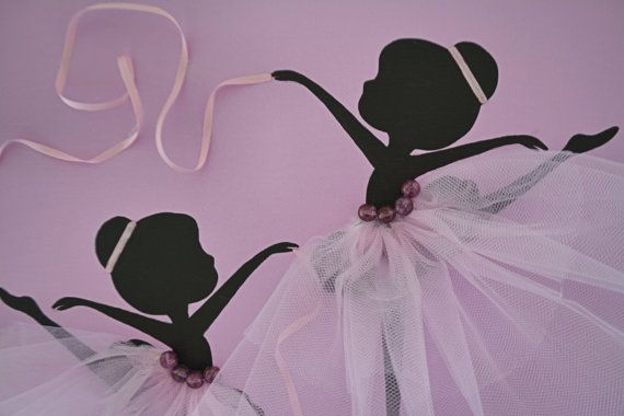 Dancing Ballerinas. Lavender/Pink wall decor. by FlorasShop, $32.00