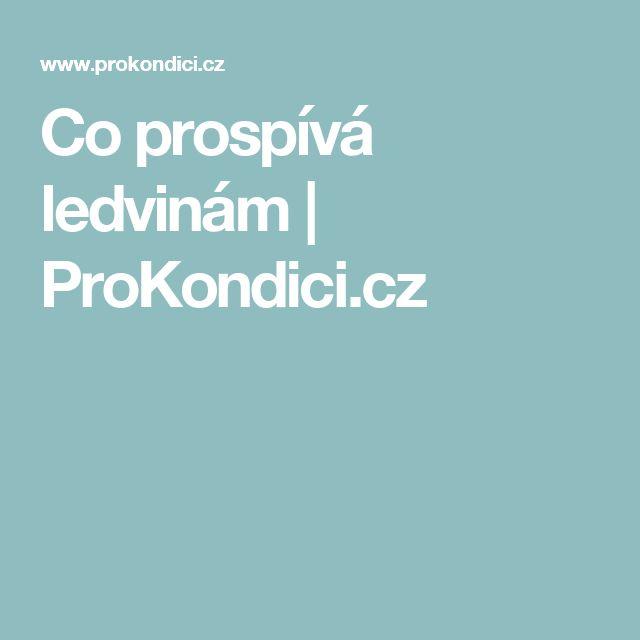 Co prospívá ledvinám | ProKondici.cz
