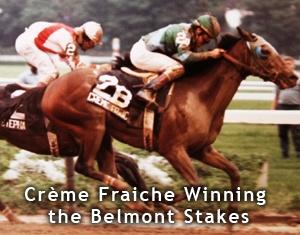 Creme Fraiche wins the 1985 Belmont Stakes
