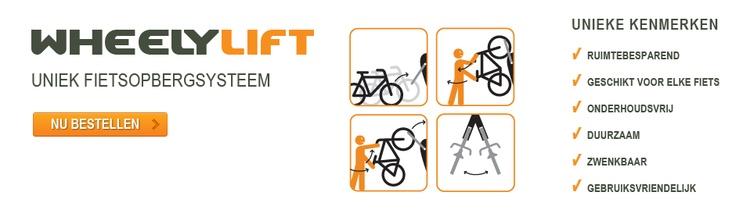 Wheelylift - fiets opberg systeem