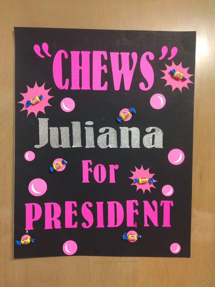 Student council election poster.