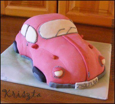 Red car cake