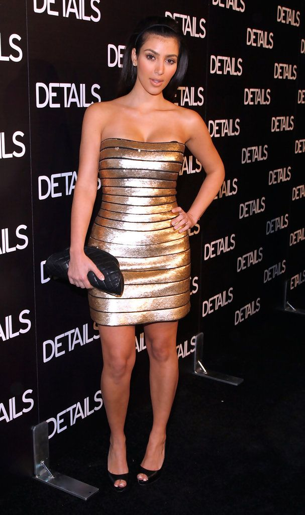 """Model Kim Kardashian  arrives at DETAILS magazine """"Mavericks 2008""""  issue cocktail party on June 27, 2008 at a private location in Beverly Hills, California."""