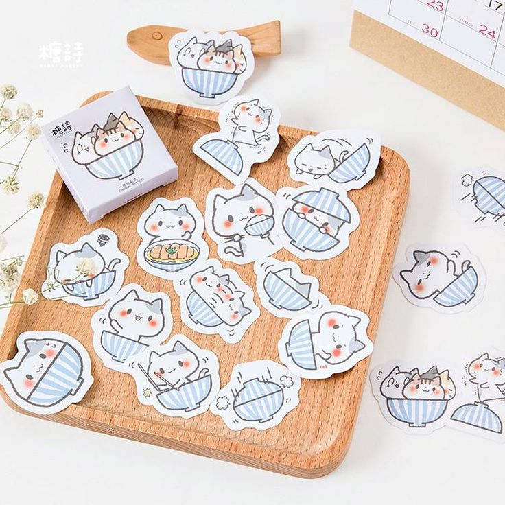 """Item specifics Order: 45 pieces Style: Stickers Feature: Self-Adhesive Adhesive Or Not: Yes Magnetism: No Use: Office & School Size:About 4.4 cm x 4.4 cm We ship with a USPS tracking number. Shipping takes between two and four weeks. Click the """"Add to Cart"""" button now! Limited Quantity - Will sell out fast! Note: Please allow 2-4 weeks for delivery. Planner Stickers, Journal Stickers, Scrapbook Stickers, Notebook Stickers, Kawaii Stickers, Cat Stickers, Label Stickers, Doodles, Kawaii Stationery"""