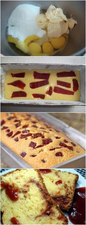 RECEITA DE BOLO IGLÊS COM GOIABADA VEJA AQUI>>>Na batedeira, bata a margarina com o açúcar e os ovos até esbranquiçar. Ainda batendo, acrescente o creme de leite e #receita#bolo#torta#doce#sobremesa#aniversario#pudim#mousse#pave#Cheesecake#chocolate#confeitaria