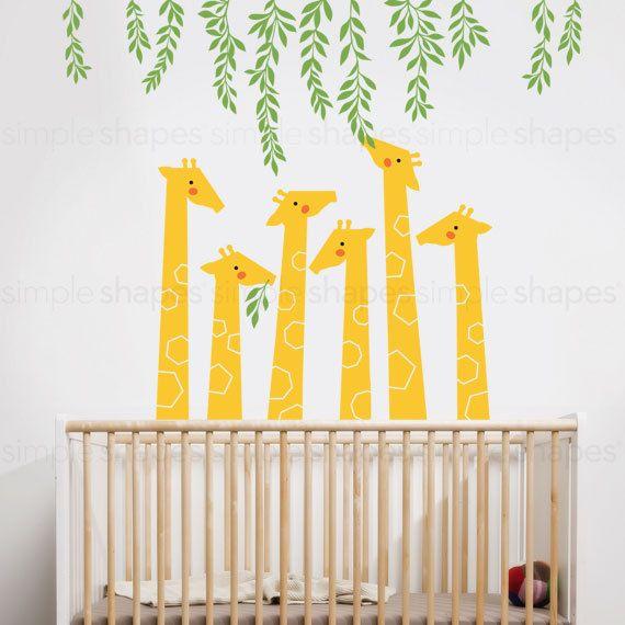 Giraffa Sticker murale Baby Nursery disegni di SimpleShapes