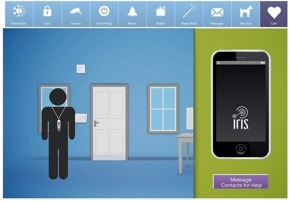 Iris smart home system.  Lowe's showcases Iris connected home system at CES.