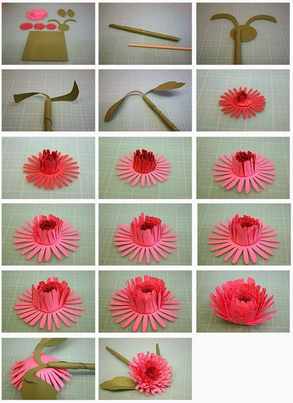 3D Calendula, Camellia, and Sweet Pea Paper Flowers!