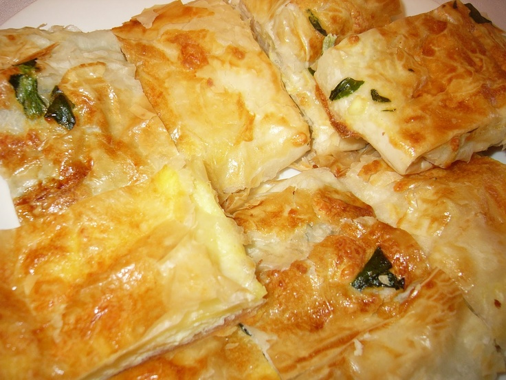 Banitsa, bulgarian breakfast! I made this several times from a recipe I got from a Bulgarian lady I worked with. One of the best things I ever put in my mouth!