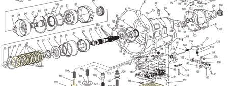 diagram schematic automatic transmission Ford Escape 2010