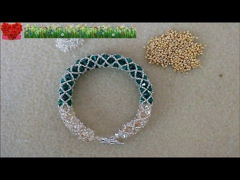 How to bead funny accessory:Mesh Bracelet - YouTube