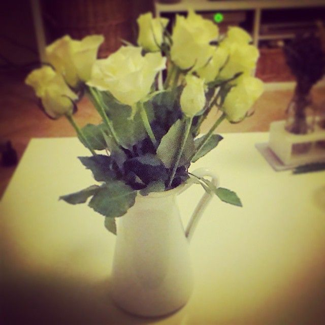 white roses and ikea...