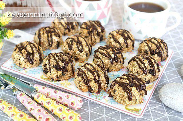 Damla Çikolatalı Yulaflı Kurabiye Tarifi   Kevserin Mutfağı - Yemek Tarifleri