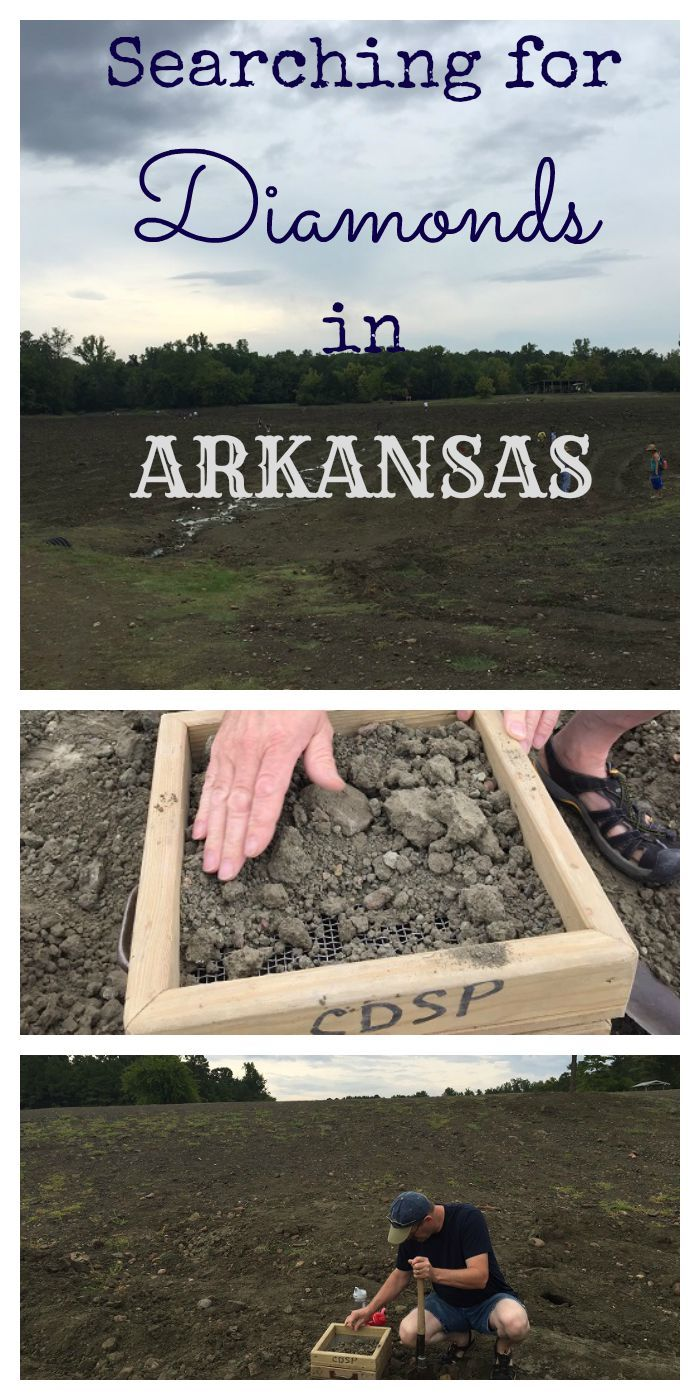 Searching for diamonds at Crater of Diamonds state Park in Arkansas.