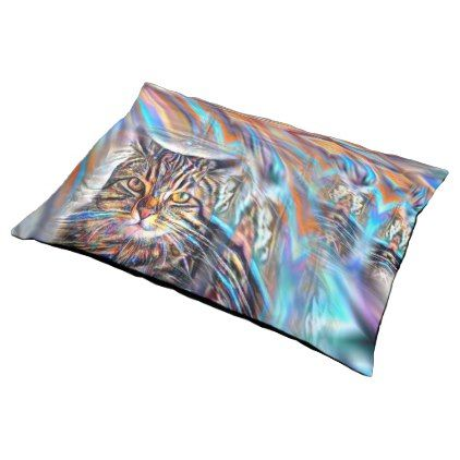 Adrift in Colors Tropical Sunset Cat Pet Bed - animal gift ideas animals and pets diy customize